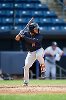 Lowell Spinners third baseman Jonathan Ortega (29) at bat during a game against the Staten Island Yankees on August 22, 2018 at Richmond County Bank Ballpark in Staten Island, New York.  Staten Island defeated Lowell 10-4.  (Mike Janes/Four Seam Images)
