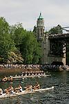 Seattle, Rowing, Windermere Cup Regatta, Opening Day of Rowing Season, Pacific Northwest, Montlake Cut, Lake Washington Ship Canal, Washington State, Pacific Northwest, USA,.