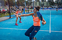 Netherlands, September 6,  2020, Amsterdam, Padel Dam, NK Padel, National Padel Championships, Final womans double: Chayenne Ewijk (NED) and Rosalie van der Hoek (NED) (R)<br /> Photo: Henk Koster/tennisimages.com