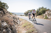 South African champion Daryl Impey (ZAF/Mitchelton-Scott) & European Champion Matteo Trentin (ITA/Mitchelton-Scott) during  a VERY hot (35°C) rest day 2 training ride with Team Mitchelton-Scott <br /> <br /> restday 2<br /> 106th Tour de France 2019 (2.UWT)<br /> <br /> ©kramon