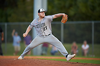 Northeastern Huskies relief pitcher Kyle Murphy (27) during a game against the South Dakota State Jackrabbits on February 23, 2019 at North Charlotte Regional Park in Port Charlotte, Florida.  Northeastern defeated South Dakota State 12-9.  (Mike Janes/Four Seam Images)