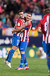 Angel Correa of Atletico de Madrid celebrates with Gabi during their La Liga match between Atletico de Madrid and Granada CF at the Vicente Calderon Stadium on 15 October 2016 in Madrid, Spain. Photo by Diego Gonzalez Souto / Power Sport Images
