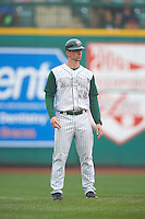 Fort Wayne TinCaps manager Anthony Contreras (10) during the first game of a doubleheader against the Great Lakes Loons on May 11, 2016 at Parkview Field in Fort Wayne, Indiana.  Great Lakes defeated Fort Wayne 3-0.  (Mike Janes/Four Seam Images)
