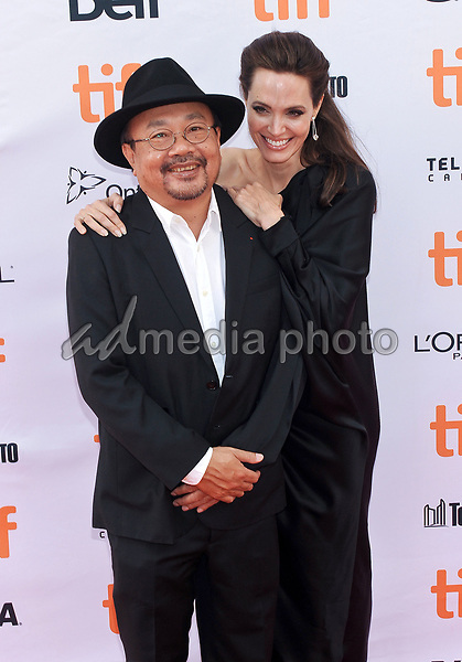 """11 September 2017 - Toronto, Ontario Canada - Angelina Jolie, Rithy Panh. 2017 Toronto International Film Festival - """"First They Killed My Father"""" Premiere held at Princess of Wales Theatre. Photo Credit: Brent Perniac/AdMedia"""