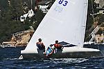 Sailing action on Lake Arrowhead, CA