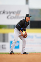 Akron RubberDucks shortstop Yu-Cheng Chang (6) during a game against the Binghamton Rumble Ponies on May 12, 2017 at NYSEG Stadium in Binghamton, New York.  Akron defeated Binghamton 5-1.  (Mike Janes/Four Seam Images)