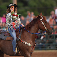 Miss Riata Roundup getting some recognition during the opening ceremonies.