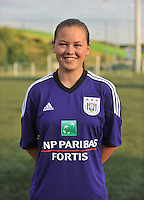 RSC Anderlecht Dames : Valentine Hannecart<br /> foto David Catry / nikonpro.be
