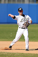Akron Zips second baseman Scott Saylor #20 during a game vs the Michigan State Spartans at Chain of Lakes Park in Winter Haven, Florida;  March 12, 2011.  Michigan State defeated Akron 5-1.  Photo By Mike Janes/Four Seam Images