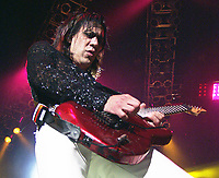 **FILE PHOTO** Jeff LaBar Has Passed Away At 58.<br /> <br /> Jeff LaBar of Cinderella performs at Lakewood Amphitheatre in Atlanta, Georgia on May 26, 2002. Credit: Chris McKay / MediaPunch<br /> CAP/MPI/CM<br /> ©CM/MPI/Capital Pictures