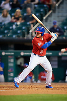 Buffalo Bisons designated hitter Reese McGuire (3) at bat during a game against the Lehigh Valley IronPigs on June 23, 2018 at Coca-Cola Field in Buffalo, New York.  Lehigh Valley defeated Buffalo 4-1.  (Mike Janes/Four Seam Images)