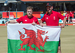 Wales Daniel Salmon and Wales Marc Wyatt celebrate winning the Mens Pairs <br /> <br /> *This image must be credited to Ian Cook Sportingwales and can only be used in conjunction with this event only*<br /> <br /> 21st Commonwealth Games - Final Mens Pairs Wales v Scotland, Bowls -  Day 5 - 09\04\2018 - Boardbeach Bowls Club - Gold Coast City - Australia