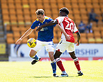 St Johnstone v Fleetwood Town…24.07.21  McDiarmid Park<br />Craig Bryson and Jay Matete<br />Picture by Graeme Hart.<br />Copyright Perthshire Picture Agency<br />Tel: 01738 623350  Mobile: 07990 594431