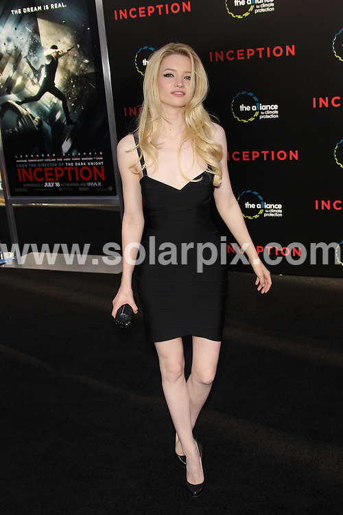 **ALL ROUND PICTURES FROM SOLARPIX.COM**.**SYNDICATION RIGHTS FOR UK, AUSTRALIA, DENMARK, PORTUGAL, S. AFRICA, SPAIN & DUBAI (U.A.E) & ASIA (EXCLUDING JAPAN) ONLY**.Inception Los Angeles Premiere - Arrivals, Grauman's Chinese Theatre, Hollywood, CA, USA, 13 July 2010.This pic: Talulah Riley..JOB REF: 11670     PHZ hatcher   DATE: 13_07_2010.**MUST CREDIT SOLARPIX.COM OR DOUBLE FEE WILL BE CHARGED**.**MUST NOTIFY SOLARPIX OF ONLINE USAGE**.**CALL US ON: +34 952 811 768 or LOW RATE FROM UK 0844 617 7637**