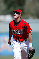 September 1 2008:  Allan Dykstra of the Lake Elsinore Storm during game against the High Desert Mavericks at The Diamond in Lake Elsinore,CA.  Photo by Larry Goren/Four Seam Images