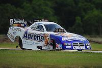 Apr. 29, 2012; Baytown, TX, USA: NHRA funny car driver Matt Hagan during the Spring Nationals at Royal Purple Raceway. Mandatory Credit: Mark J. Rebilas-