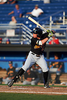 West Virginia Black Bears second baseman Mitchell Tolman (37) at bat during a game against the Batavia Muckdogs on August 30, 2015 at Dwyer Stadium in Batavia, New York.  Batavia defeated West Virginia 8-5.  (Mike Janes/Four Seam Images)