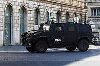 An armoire running on the set of the film Mission Impossible 7 shot in Via Nazionale. <br /> Rome (Italy), October 9th 2020<br /> Photo Samantha Zucchi Insidefoto