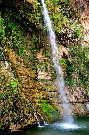 Waterfall in En Gedi, Israel