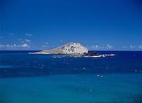 Rabbit Island (Hawaiian name Manana Island), with Kaohikaipu Island in the foreground, Makapu`u, Oahu, Hawaii.
