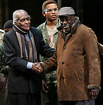 """Douglas Turner Ward and Charles Fuller During the Broadway Opening Night Curtain Call Bows for The Roundabout Theatre Company's """"A Soldier's Play""""  at the American Airlines Theatre on January 21, 2020 in New York City."""