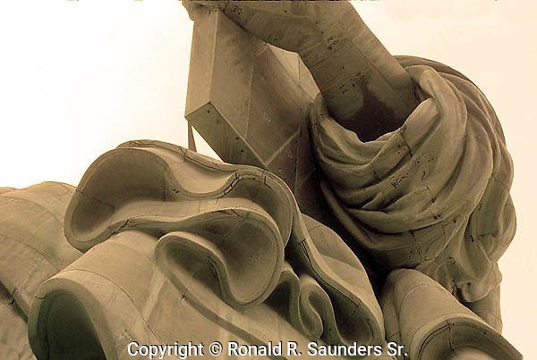 CLOSE-UP VIEW of the STATUE of LIBERTY
