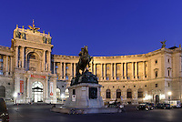Neue Hofburg mit Nationalbibliothek, Wien, Österreich, UNESCO-Weltkulturerbe<br /> Neue Hofburg and national library, Vienna, Austria, world heritage