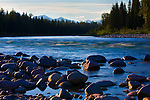 The North Fork of the Flathead River flows from Canada south along Glacier National Park's western boundary