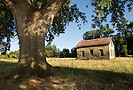 Ruins of an old and historic stone house at the gold-rush era Scully  Farm, Amador County, Calif.