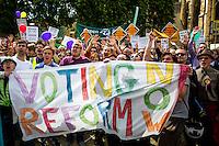 "25.07.2015 - ""Great Gathering for Voting Reform!"" - #MakeSeatsMatchVotes"