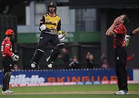 Wellington's Devon Conway celebrates winning the Dream11 Super Smash T20 men's cricket final between Wellington Firebirds and Canterbury Kings at the Basin Reserve in Wellington, New Zealand on Saturday, 13 February 2021. Photo: Dave Lintott / lintottphoto.co.nz