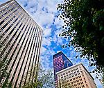 Buildings surrounding Courthouse Plaza, Downtown Dayton OHio