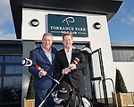 Ally McCoist and Murdo Macleod opens the refurbished clubhouse at Torrance Park Golf Club near Motherwell