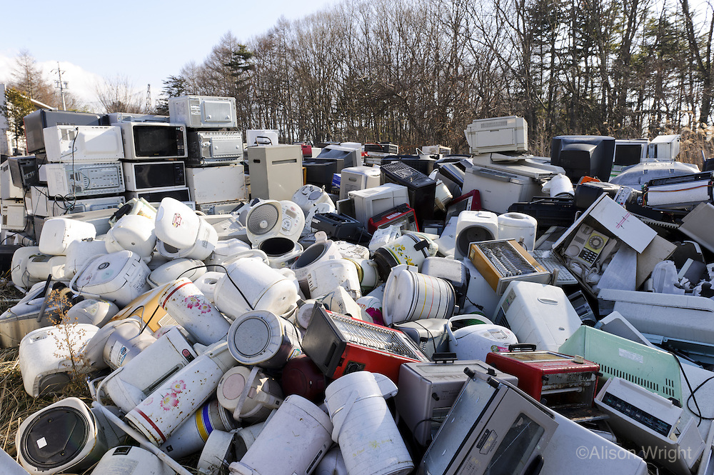 Dumping ground for used electrical appliances in Karuizawa.