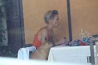 Rachael Taylor Has Lunch With Her Pug