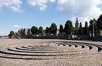 Nederland  Nijmegen  - September 2020 .   Waalkade. Kunstwerk Het Labyrinth.    Foto : ANP/ Hollandse Hoogte / Berlinda van Dam