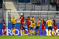 Gothenburg, Sweden - Thursday June 08, 2017: Casey Short during an international friendly match between the women's national teams of Sweden (SWE) and the United States (USA) at Gamla Ullevi Stadium.