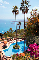 Grounds and swimming pool of the Hotel Belvedere - Taormina, Sicily