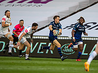 21st August 2020; AJ Bell Stadium, Salford, Lancashire, England; English Premiership Rugby, Sale Sharks versus Exeter Chiefs;  Sam James of Sale Sharks running with the ball