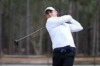 PINEHURST, NC - MARCH 02: Steven DiLisio of Duke University tees off on the fifth hole at Pinehurst No. 2 on March 02, 2021 in Pinehurst, North Carolina.