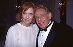 Anne Meara & Jerry Stiller attend the MTC Spring Gala at the Hilton Hotelon 5/15/1995 in New York City.