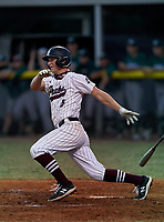 Braden River Pirates Carson Goda (5) during a game against the Venice Indians on February 25, 2021 at Braden River High School in Bradenton, Florida. (Mike Janes/Four Seam Images)