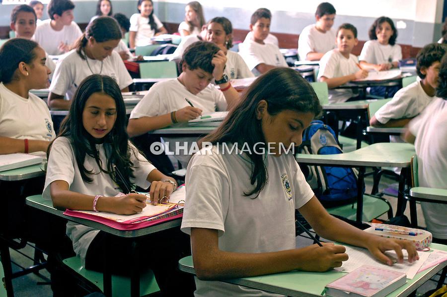 Sala de aula na escola municipal Cordolino Ambrosio em Petrópolis. Rio de Janeiro. 2006. Foto de Luciana Whitaker.