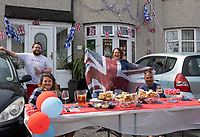 Welling, Kent, England 8th May 2020. Victory in Europe (VE) 75th Anniversary Celebrations during the UK Lockdown due to the Coronavirus pandemic. Photo by Alan Stanford / PRiME Media Images