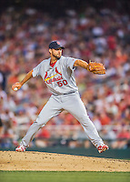 28 May 2016: St. Louis Cardinals starting pitcher Adam Wainwright on the mound against the Washington Nationals at Nationals Park in Washington, DC. The Cardinals defeated the Nationals 9-4 to take a 2-games to 1 lead in their 4-game series. Mandatory Credit: Ed Wolfstein Photo *** RAW (NEF) Image File Available ***
