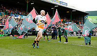 Photo: Richard Lane/Richard Lane Photography. Tigers v Wasps. Gallagher Premiership. 02/03/2019. Wasps' Joe Simpson leads the team out for his 250th club game.