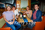 Enjoying the evening in Sean Og's on Friday, l to r: Ger Kelly, Lisa and Jacinta Hobbert and Liam McCarthy (All Tralee).