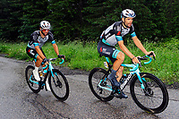 4th July 2021; Tignes, France;  MEZGEC Luka (SLO) of TEAM BIKEEXCHANGE and MATTHEWS Michael (AUS) of TEAM BIKEEXCHANGE during stage 9 of the 108th edition of the 2021 Tour de France cycling race, a stage of 144,9 kms between Cluses and Tignes on July 4