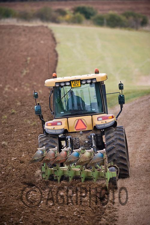 Caterpillar Challenger Tractor Ploughing Land