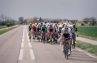 Zdenek Stybar (CZE/Quick-Step Floors) setting the pace<br /> <br /> 106th Scheldeprijs 2018 (1.HC)<br /> 1 Day Race: Terneuzen (NED) - Schoten (BEL)(200km)
